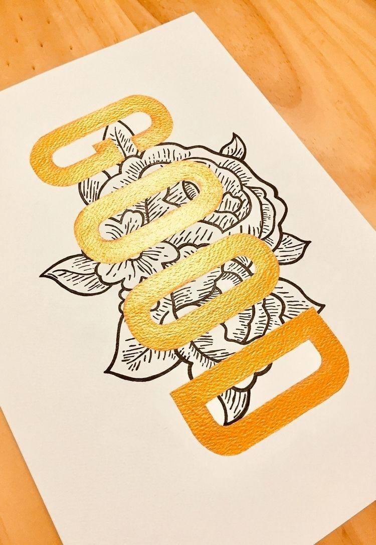 GOOD - flower, handmade, handlettering - miguelmurillo | ello