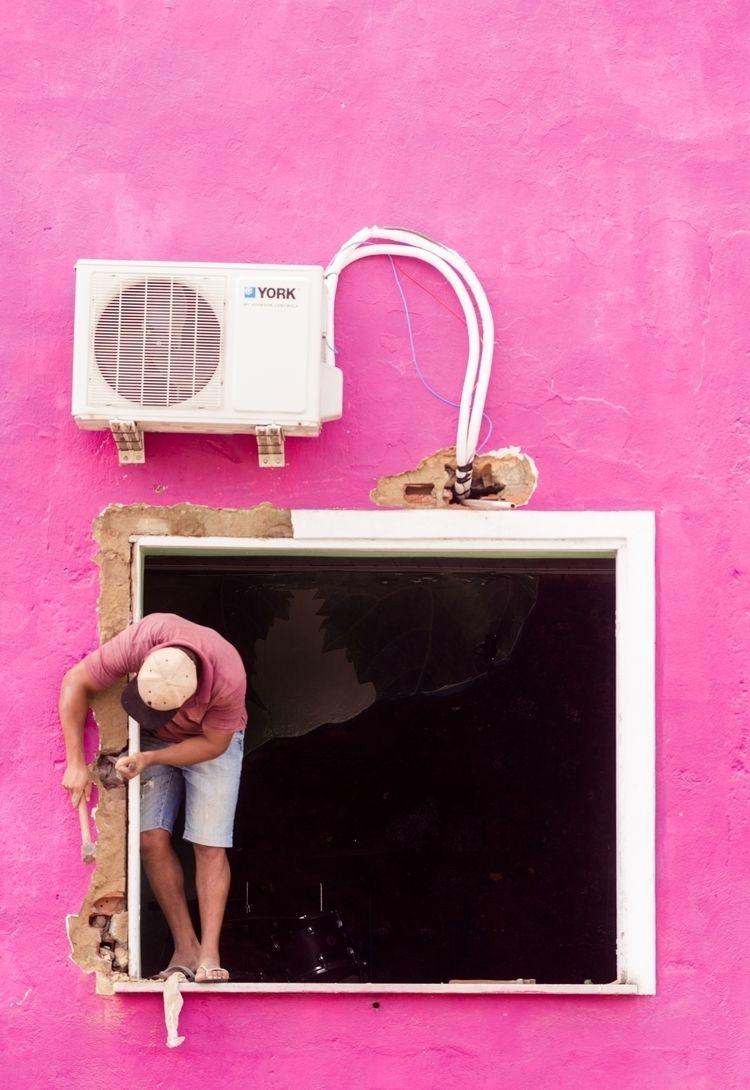 Worker - pink, funny, worker, color - martincasas | ello