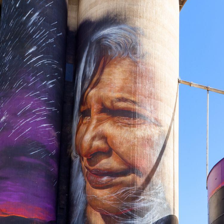 Silo Art Trail Artist: Adnate S - garylight | ello