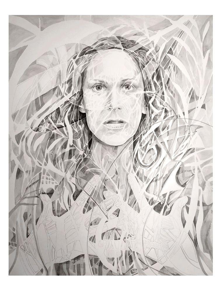 portrait brush ink 20 30 - brushandink - centaursarrow | ello