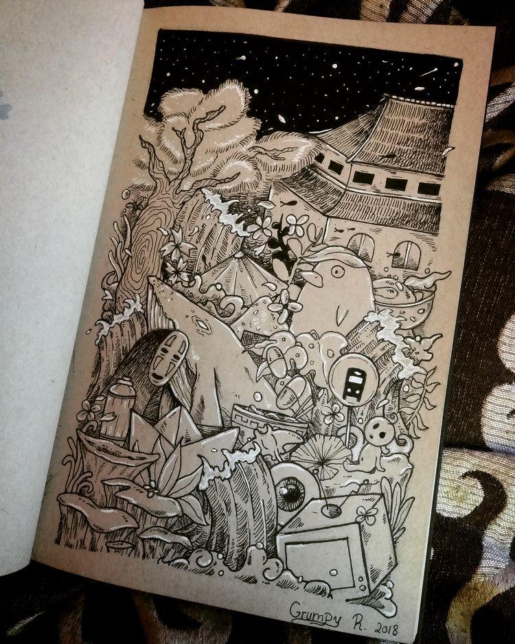 Studio Ghibli doodle stuff draw - grumpyraven | ello