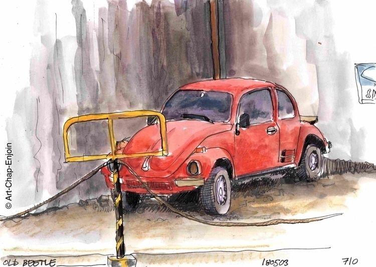 710 - beetle dusty VW Beetle si - artchapenjoin | ello
