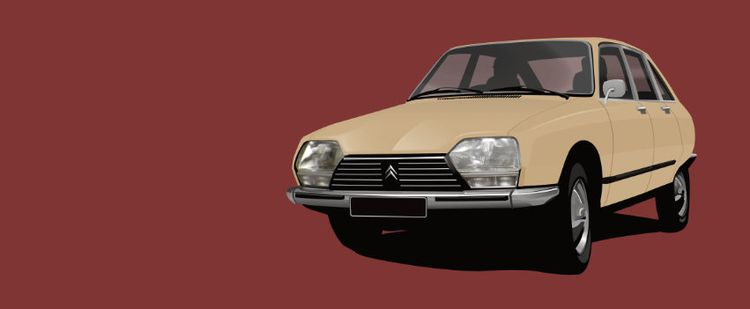 Classic CItroën GS illustration - kaimetsavainio | ello