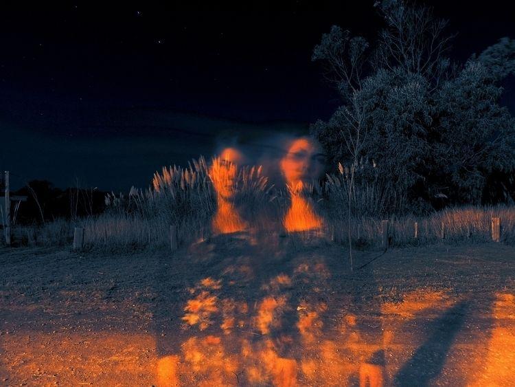 selfportrait, night, road, sky - fruitsfluid | ello