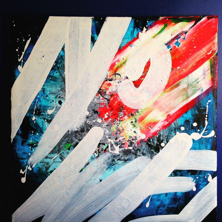 - ? Anagram acrylic painting ca - nishe_ink | ello