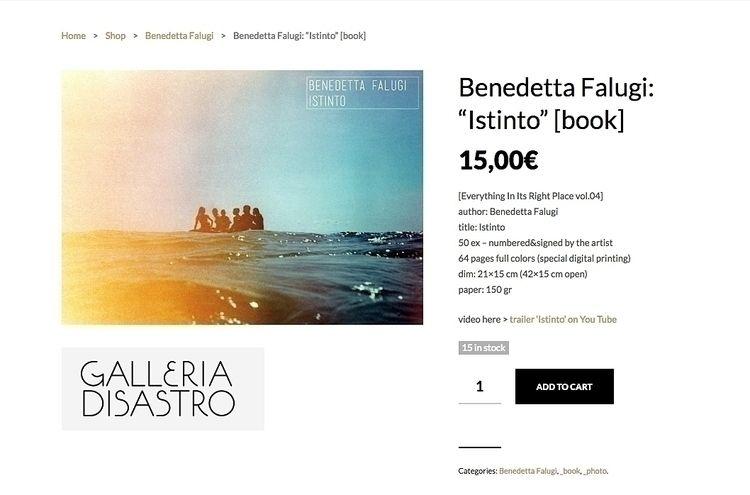 monographic photobook BENEDETTA - benedettafalugi | ello