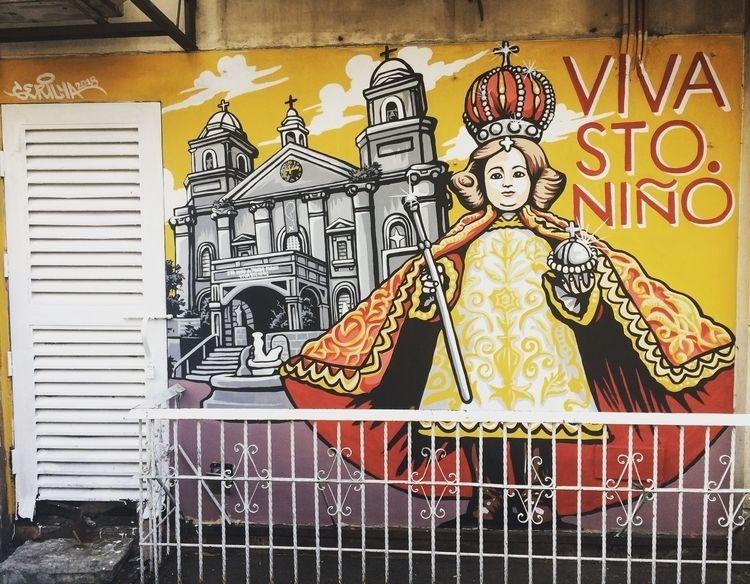"""Viva Sto. Niño"" 8ft 10ft wall  - angmaarte | ello"