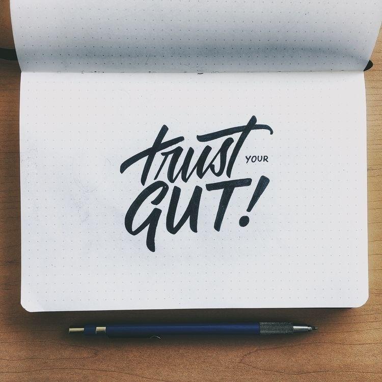 lettering, handlettering, typography - chuckchai | ello