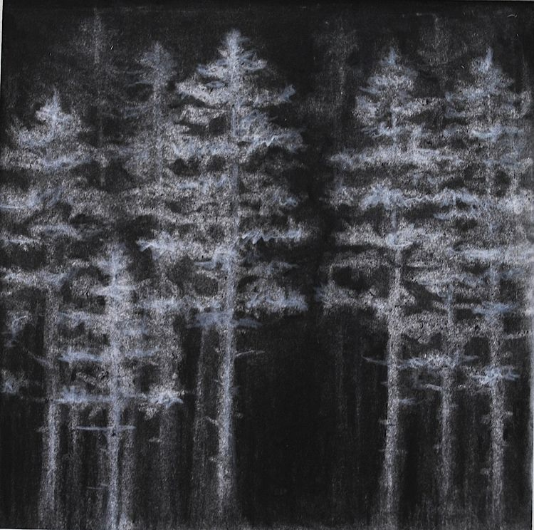 - 5x5 charcoal pastel board - drawing - hemlockend | ello