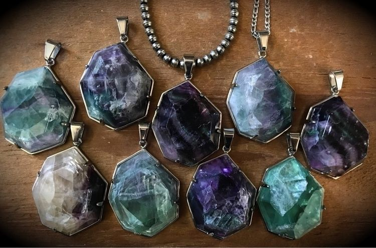 Veda Necklaces Fluorite website - evil_pawn_jewelry | ello