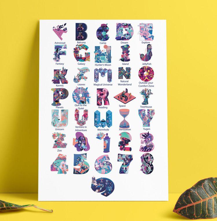 36 days type illustrations , se - nancykouta | ello