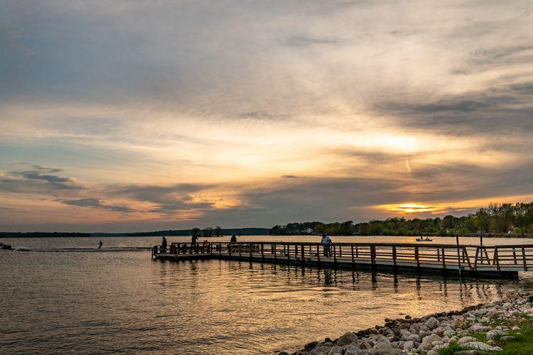 Pewaukee Lake Sunset - sharkypics | ello