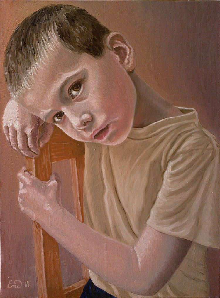 Oil canvas 30x40cm - heydidi#portrait - enavarsavikova | ello