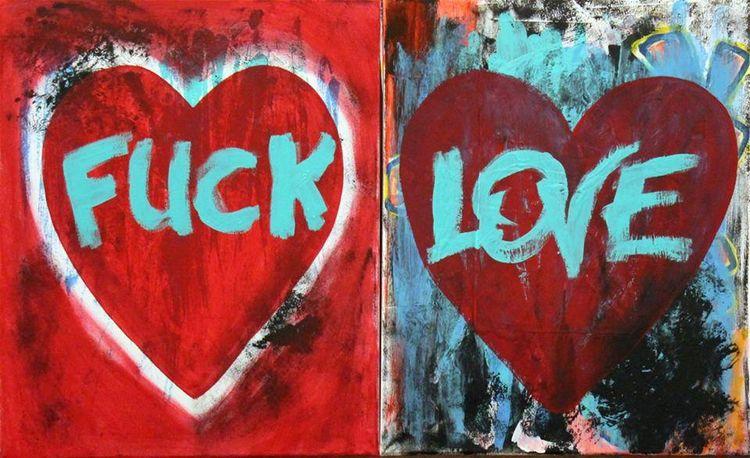Serie LOVE Acrylic Canvas 16x20 - art-brasseur | ello