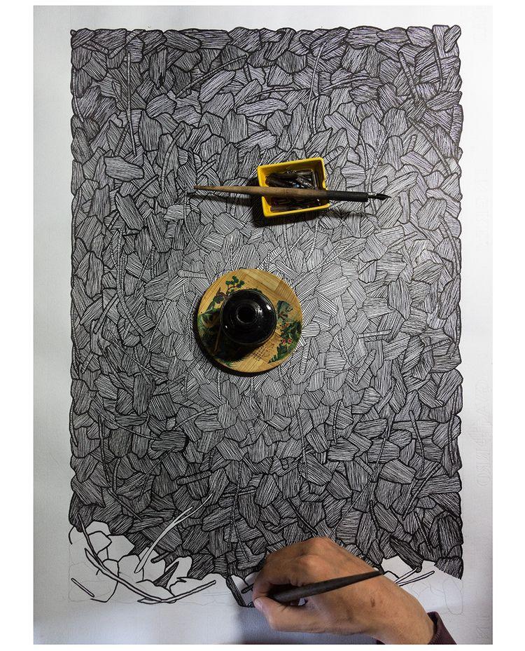 work progress - abstract, ink, ello - donforty | ello