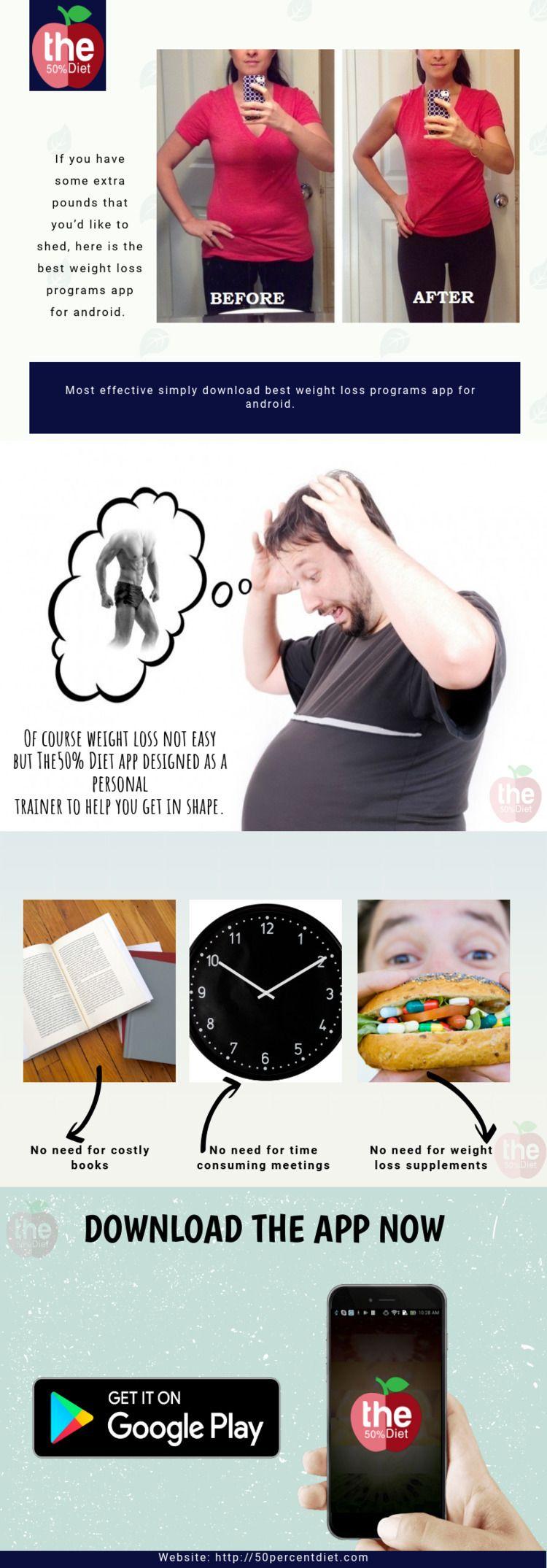 Weight Loss Programs App Androi - 50percentdiet | ello