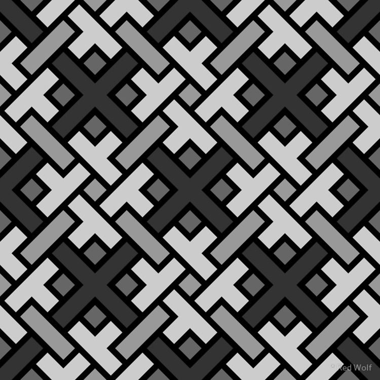 Geometric Pattern: Weave: Monoc - red_wolf | ello