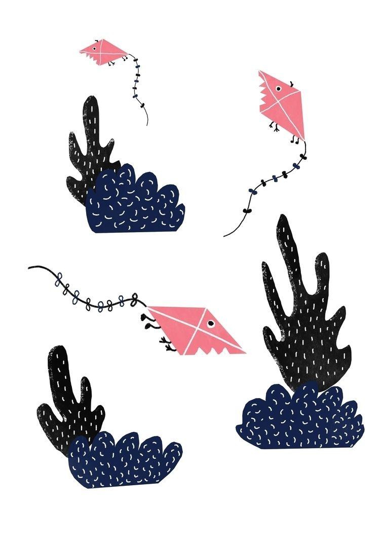 Kites, digital illustration - m_sturgulewska | ello