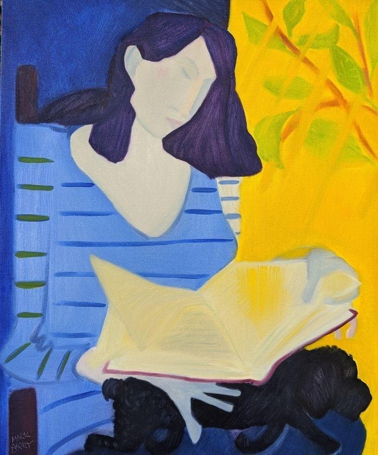 Readers oil/canvas, 32x28 - art - markbarry | ello