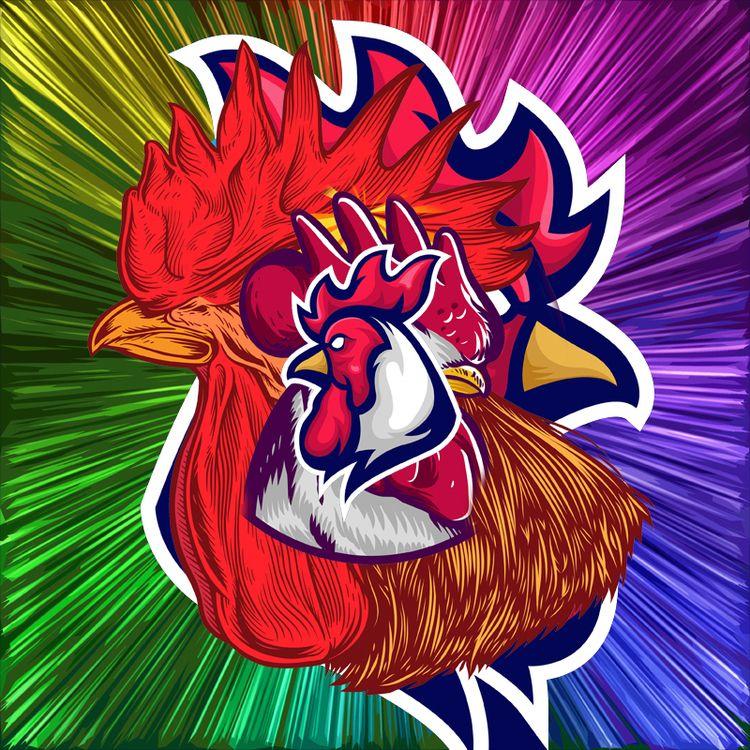 Chicken Stack Conceptual Colorf - stevesherrell | ello