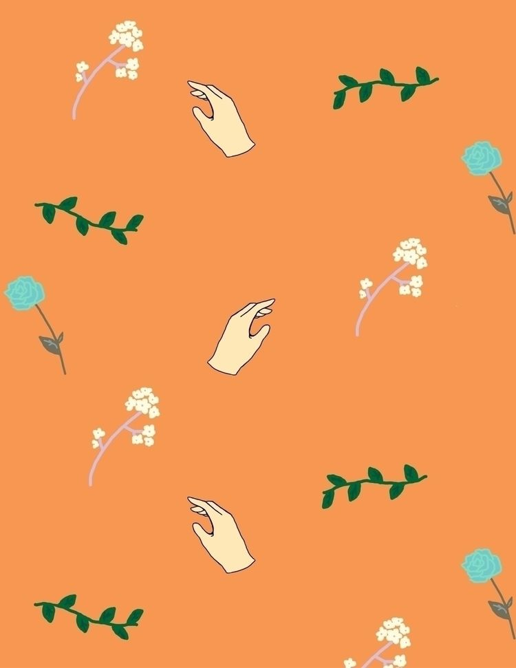 simple spring inspired pattern - kianaart | ello