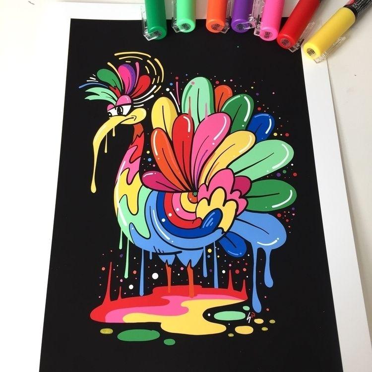 Rainbow Cock 2018- Giclee print - ms_wearer | ello