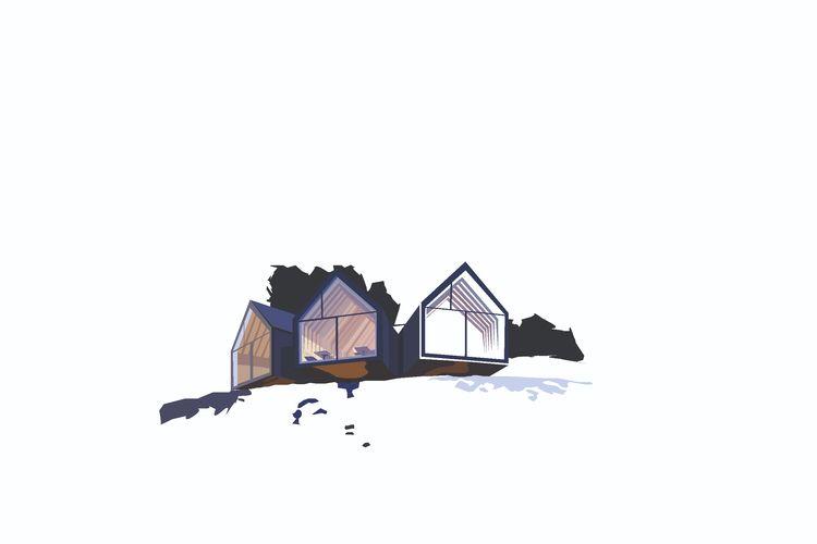 Berghütte Oberholz Peter Pichle - sophieillustration | ello