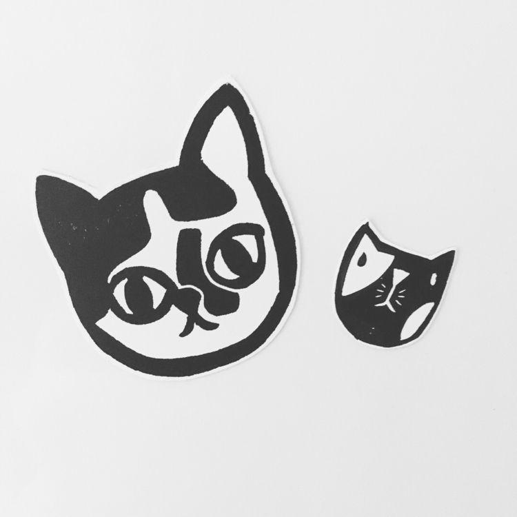 Cat magnets - mauw, cat, stamp - studiomalu | ello