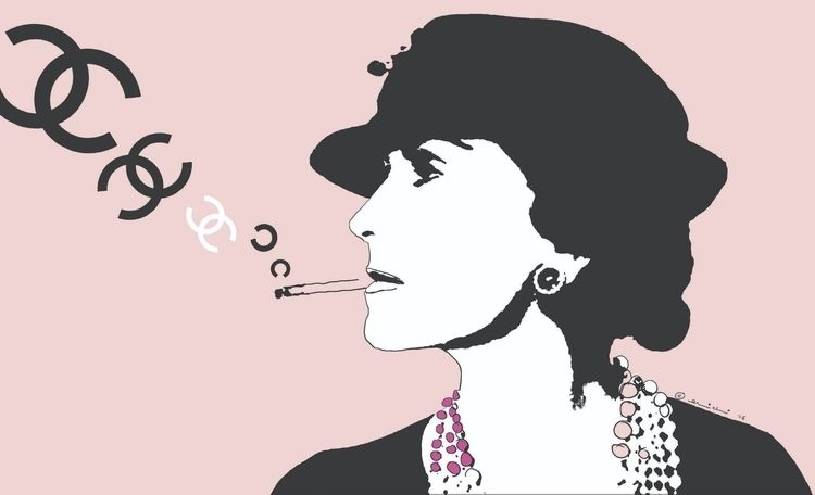 Chanel Smoking COCO screenprint - michibroussard | ello