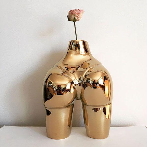 Bronze Booty Bud Vase 24 Kt ele - meeganbarnes | ello