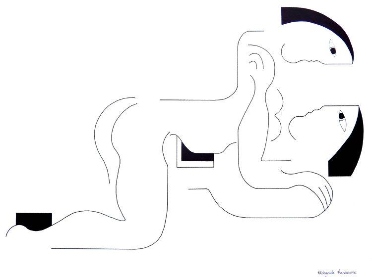 Amore Inkdrawing 75 56 cm Disco - hildegardehandsaeme | ello