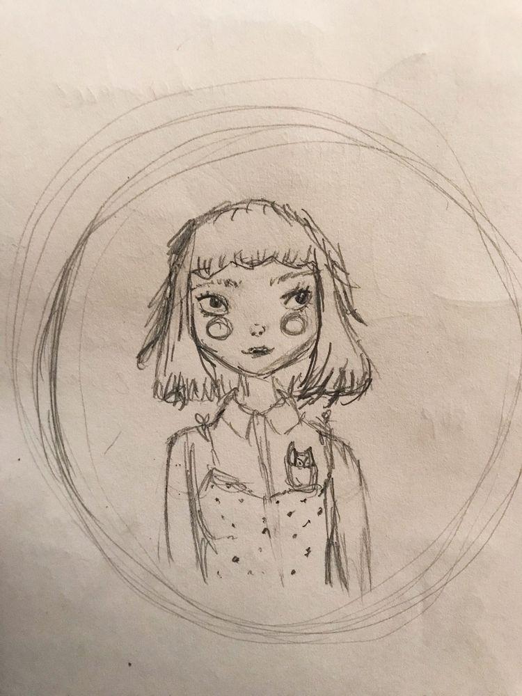 portrait doodle - gouachepainting - phobic_mango | ello