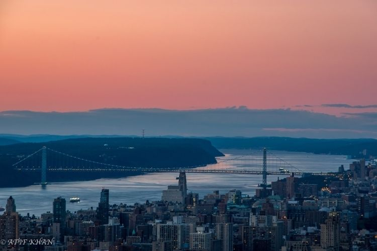 Sunset Hudson! Hudson river vie - atifkhan | ello