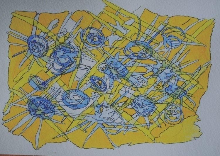 7;×10 ink watercolor paper proc - seanstaceyarts | ello