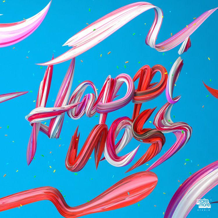 HAPPINESS - 3D, ello3d, C4D - makemorestudio | ello