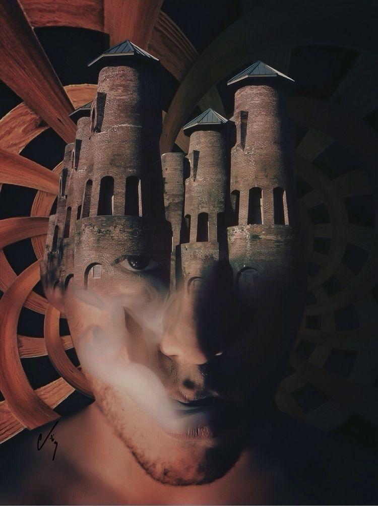 """Armory"" series: Wreckage - collageart - cashmattock   ello"