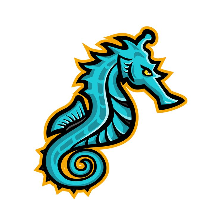 Seahorse Mascot - mascot, illustration - patrimonio | ello
