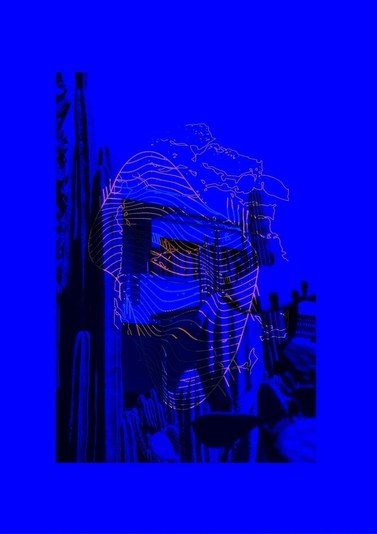 psychotherapy - blue, neon, orange - lostonthedgee | ello