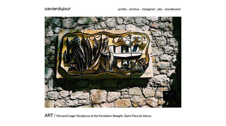launched website - caviardujour - caviardujour | ello