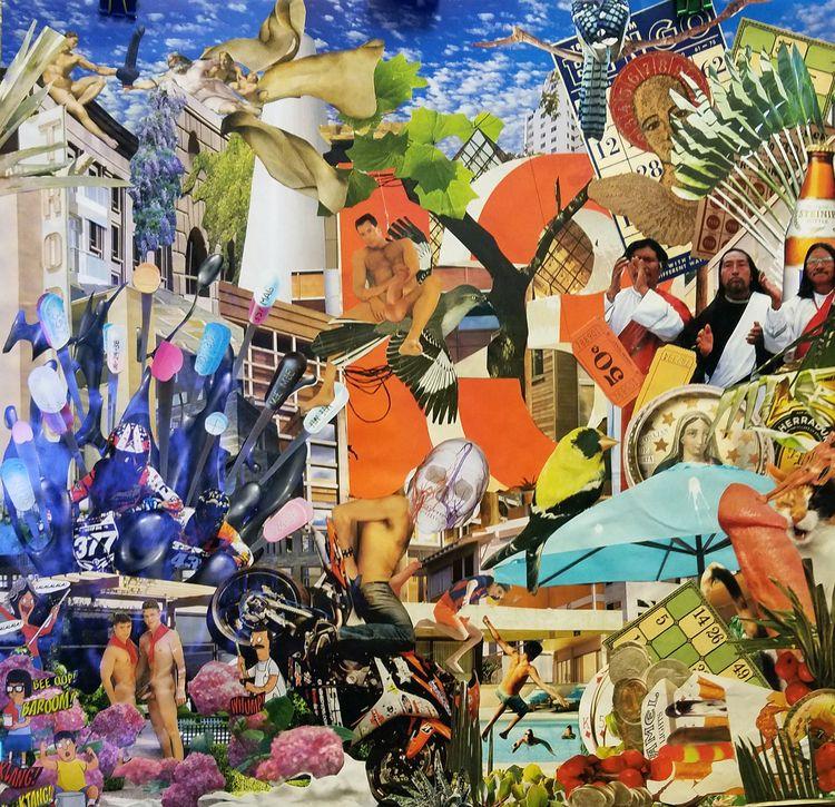 Bingo hand cut paste collage ap - geotaylor | ello