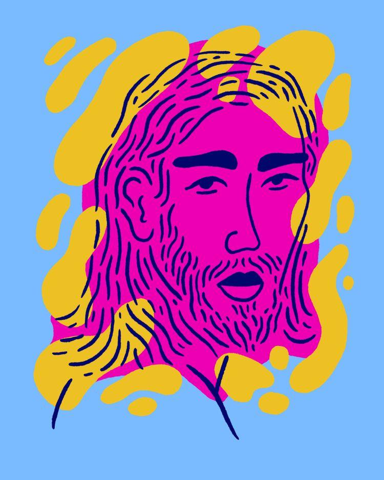Long Haired Child - illustration - heybop | ello