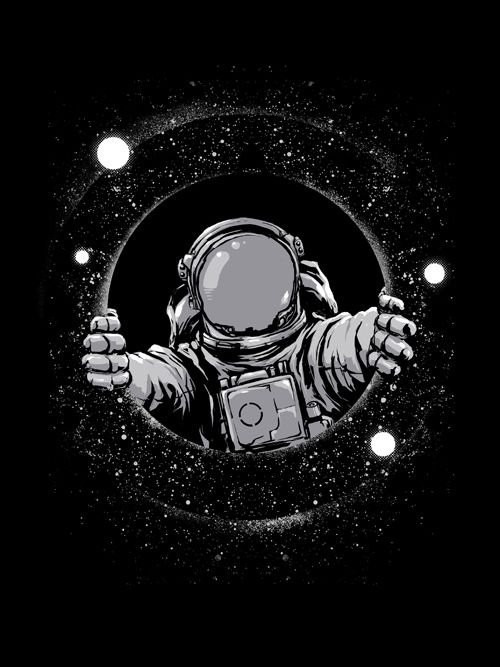 Black Hole - astronaut, blackhole - digital_carbine | ello