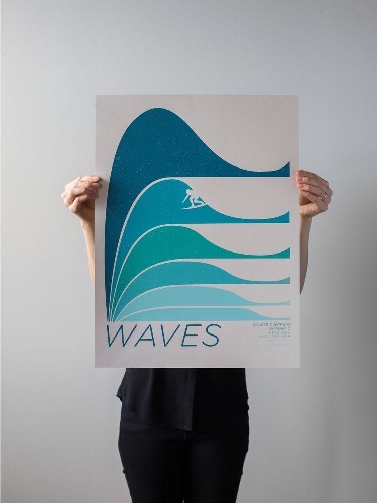 waves, screenprint, getpitted - wearebrainstorm | ello