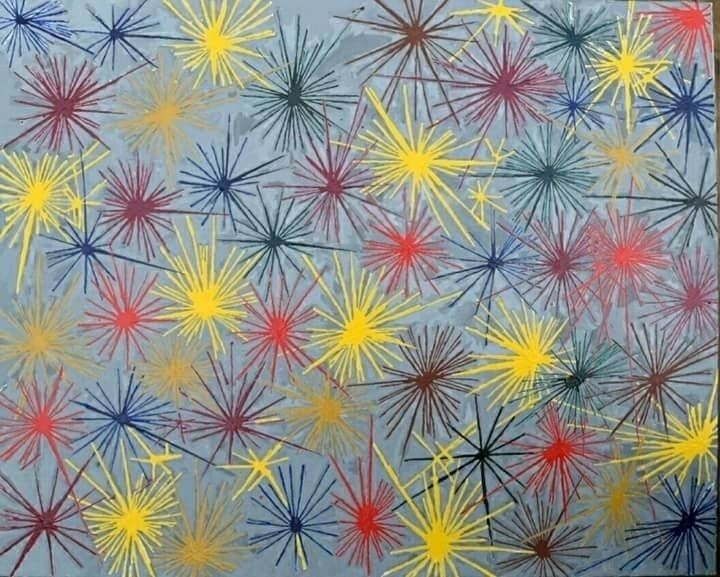 24×36 acrylic canvas progress - art - seanstaceyarts | ello