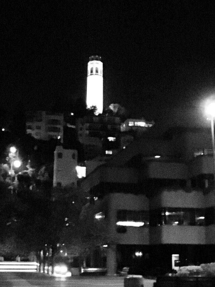 Coit Tower - SanFrancisco, monochrome - thespeck | ello