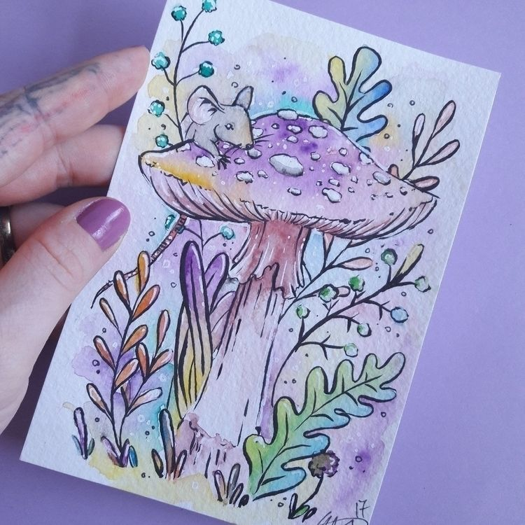 original postcard painting buy - sarahlouillustrator | ello