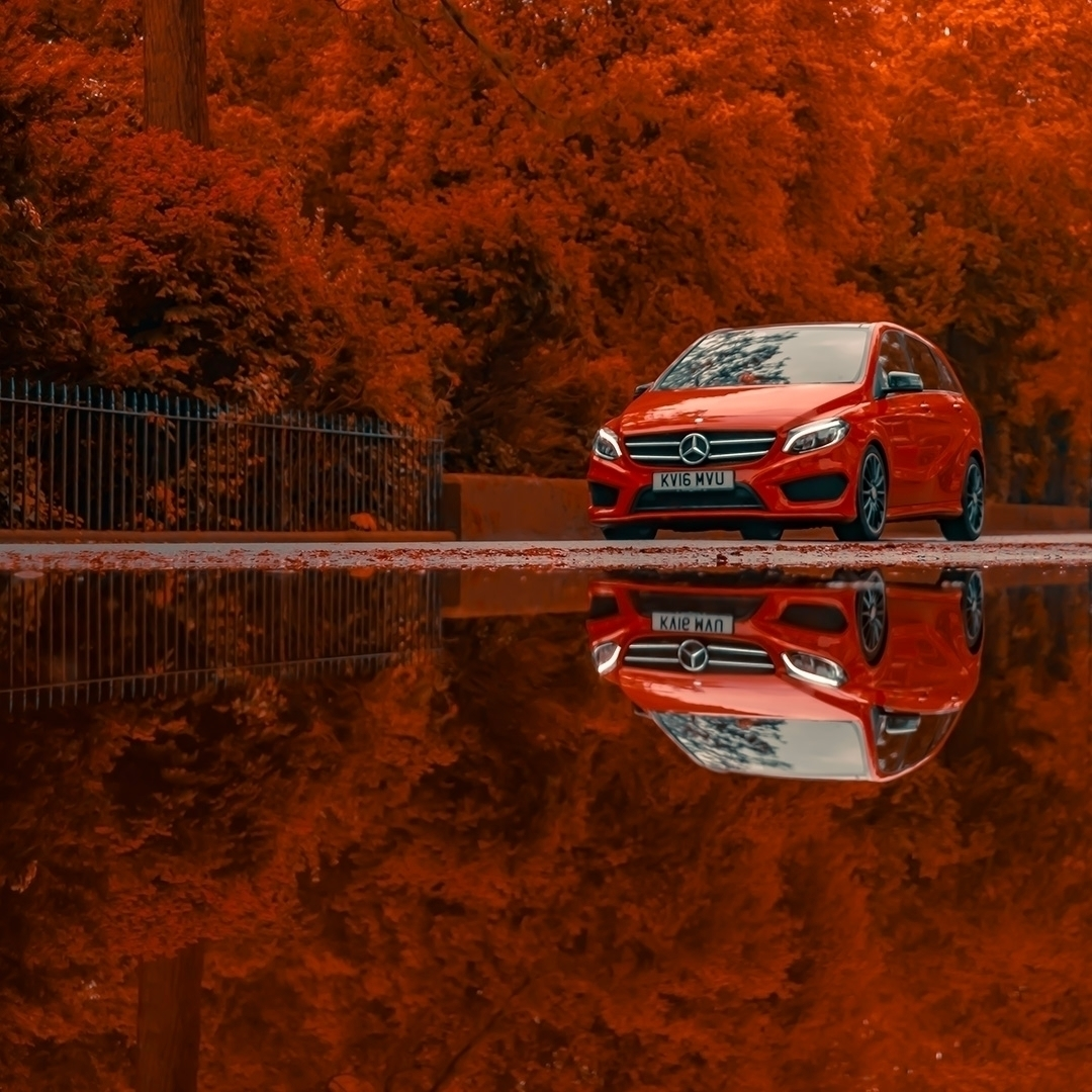 Reflections cars - raining lot - sighjones | ello