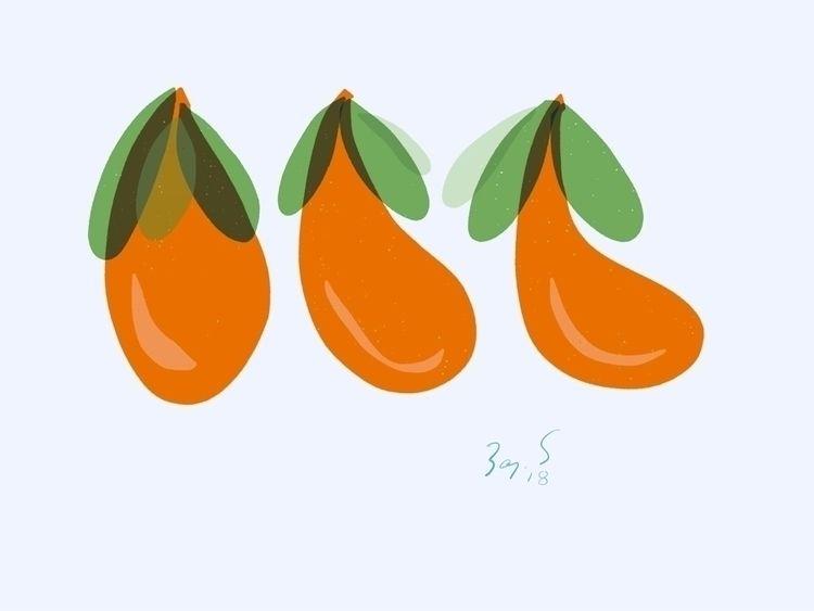 'Trio' (2018) Fruit vegetable?  - leapingbluehare   ello