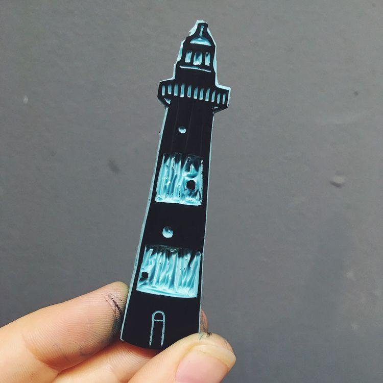 custom stamp Helen. lighthouse  - studiomalu | ello