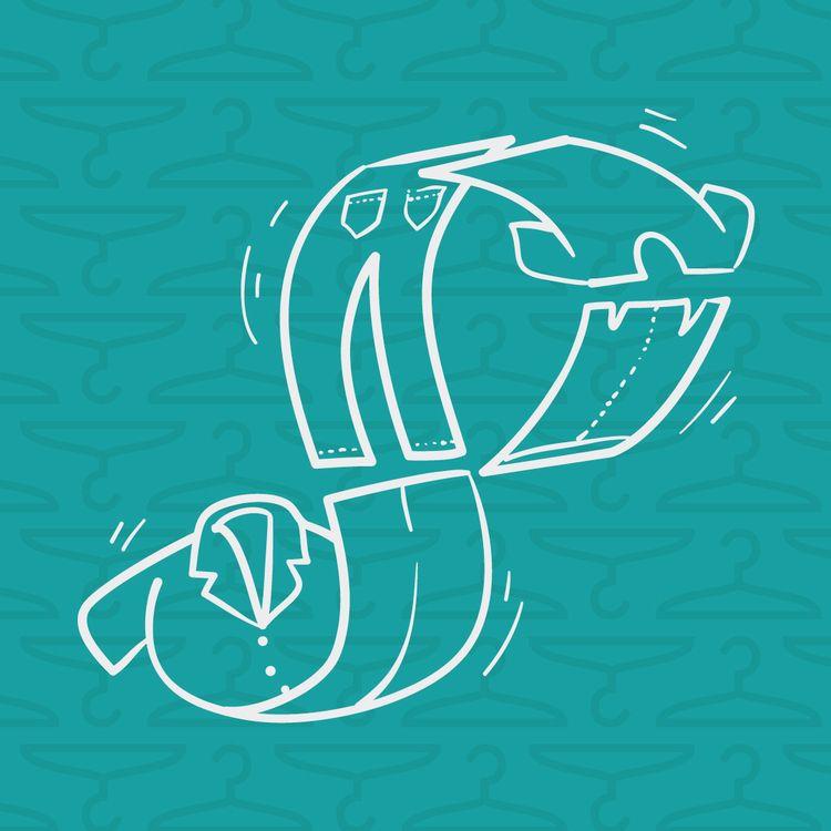 Clothes swap - illustration, vector - joanacorker | ello